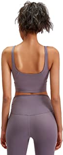 U Type Sports Bra, Women Breathable Comfy Yoga Gym Bras for Yoga Running Gym Exercise,Gray,12