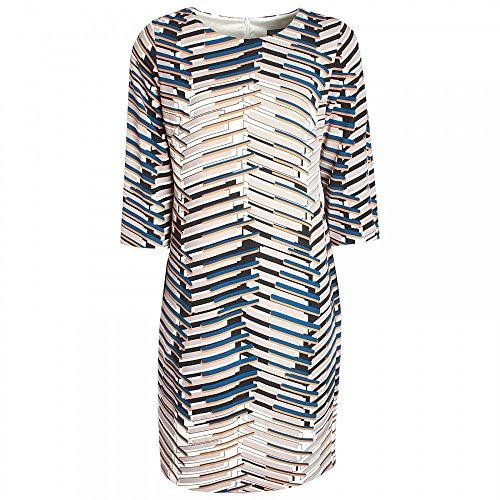 Michaela Louisa Long Sleeve Printed Dress 14 Navy Multi