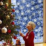 YQHbe Copos de Nieve Pegatina Stickers Copos de Nieve Navideñas Reutilizables Decoración de Navidad Fiesta Calcomanía Pegatinas Decorativas