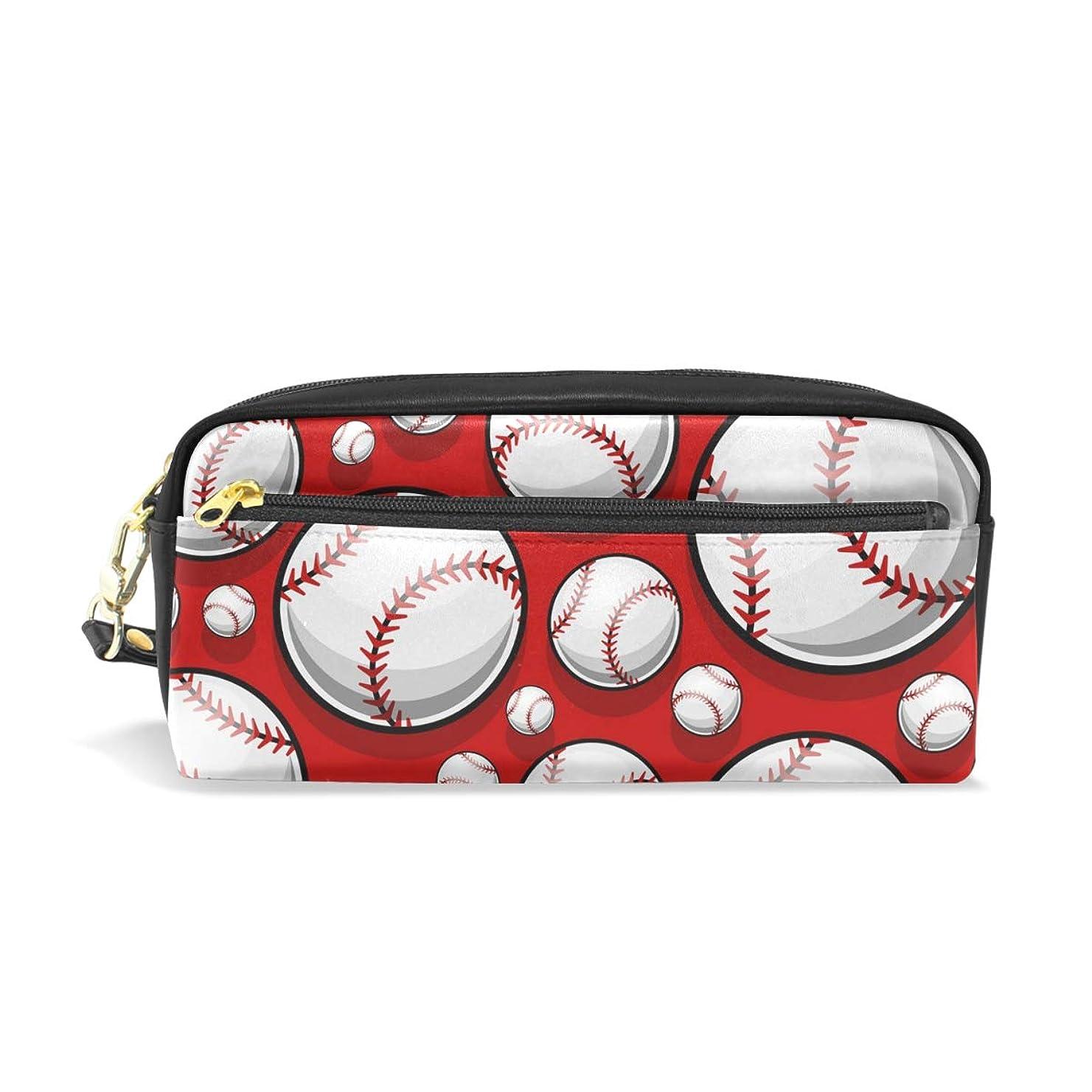 暴君熟した写真AOMOKI ペンケース ペンポーチ 化粧ポーチ おしゃれ かわいい 小物入り 多機能バッグ 男女兼用 ギフト プレゼント 野球 ボール