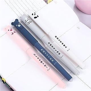 PIKAqiu33 4 x Cute Kawaii Cartoon Cat Gel Ink Pen Ballpoint 0.35mm Blue Ink Student 2ML, Kitchen,Dining & Bar, for Xmas Da...