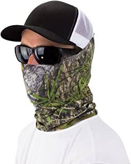 Mossy Oak Seamless Bandana Face & Neck Cover by Hoo-rag - UPF 30 High Performance Moisture Wicking Face & Mask Cover - Made of 100% Polyester Microfiber - Great For Camping, Hiking, Hunting, Fishing, Bird Watching & Outdoor Activities