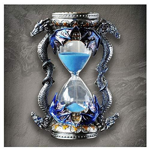 JINSUO NWXZU Eieruhr, 15 Minuten Sanduhr Dekorative Ornamente, Wohnaccessoires, Schreibtisch Möbel, American Crafts-kreative Geschenke, schönes Geschenk (Color : Blue)