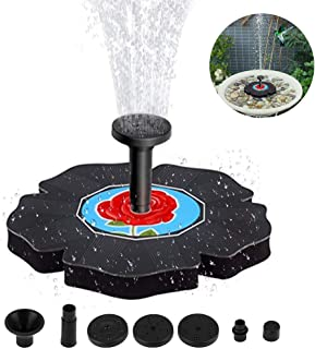 Flantor Solar Birdbath Fountain,1.4W Freestanding Solar Powered Fountain Pump,Solar Fountain for Bird Bath, Outdoor Watering Submersible Pump for Garden,Patio,Fish Tank Aquarium,Small Pond