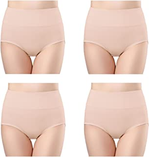 Wirarpa Women's Waist Briefs Bamboo Microfibre Panties Briefs with High Waist Ultra Soft Size S - XXXL