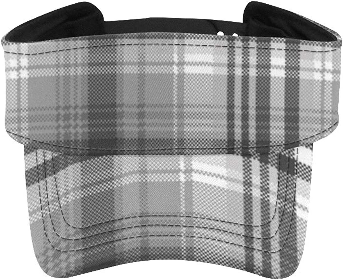 Hat for Fees free!! Running Gray Black White Check Pixel Plaid Adjustable Vi 5% OFF
