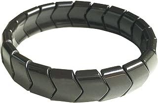 Power Ionic Health Ion Tourmaline Beads Stretch Bracelet Wristband Stretch (Black)
