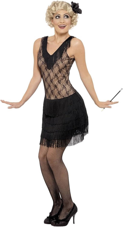 Fancy Me Damen Sexy Schwarz Jazz Emanzipierte Frau 1920s Jahre 1930s Jahre Charleston Kostüm Outfit UK 8-18