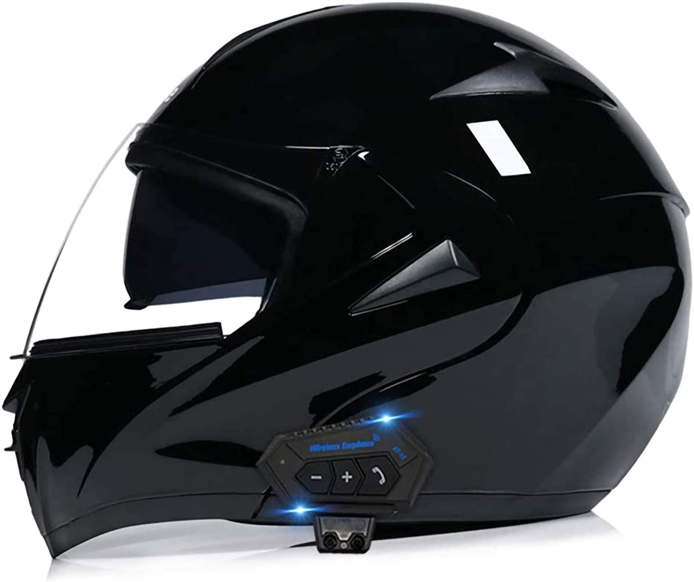 Casco Moto Bluetooth Modulare Flip Front Omologato con Visiera Antiappannamento ECE Scooter Motorino Integrali Off-Road Caschi Apribili per Casco per Donna e Uom J,XS53~54cm