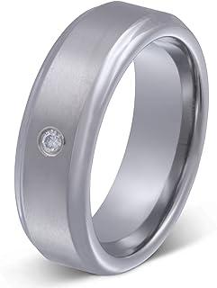 Juwelier Schönschmied - Damen Verlobungsring Ehering Destiny Wolframcarbid Zirkonia inkl. persönliche Lasergravur W2D
