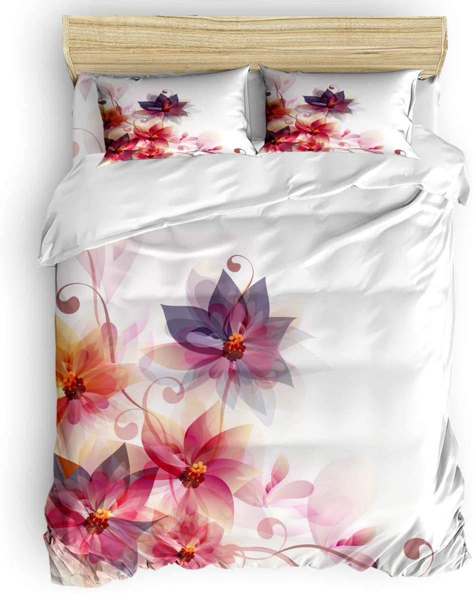 BABE MAPS Flowers Duvet Cover Set Pcs Breathable Lightwei 4 Ranking TOP13 Manufacturer OFFicial shop and