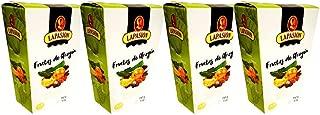 Lote de 4 estuches productos Gourmet LAPASION - Frutas de Aragón bañadas en cobertura de chocolate.
