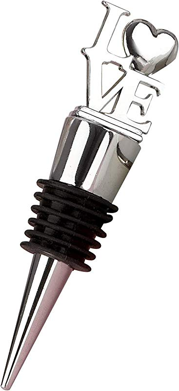 Keke S Home Creative Silica Gel Bottle Plug For Wine Beverage Letter LOVE Wine Stopper Kirsite Silver Wine Stopper