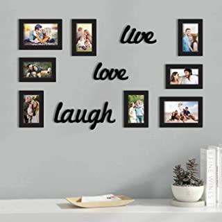 Art Street Wall Photo Frame, Picture Frame for Home Decor with Free Hanging Accessories (Live Love Laugh)