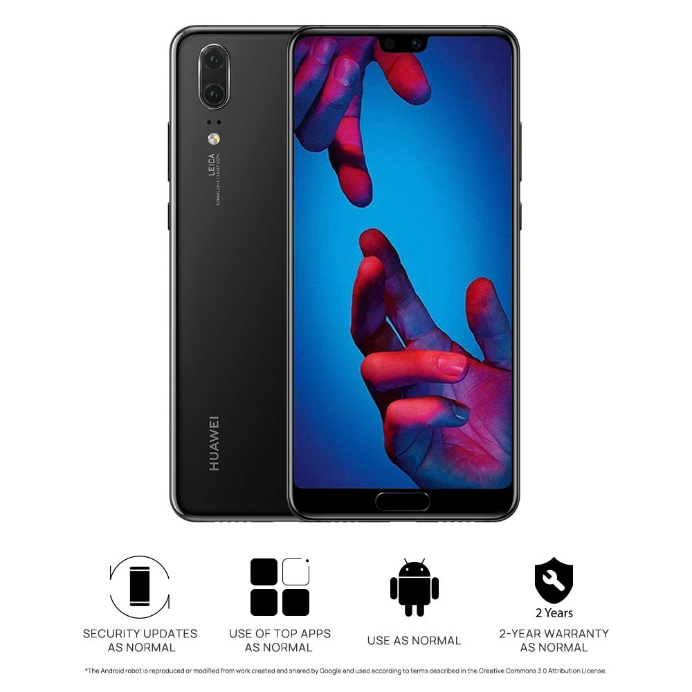 Huawei P20 Smartphone, 128 GB, 4 GB, Negro (United Kingdom Version ...