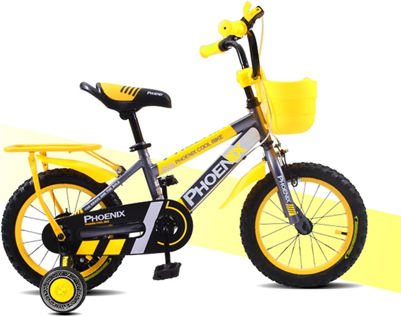 XQ TL-114 Kinderfahrrder 3-13 Jahre alt Junge Mdchen High-Carbon-Stahl Dmpfung Kinder Fahrrad Gelb