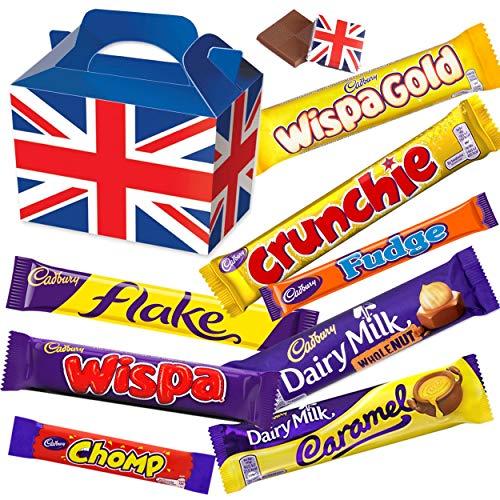 Cadbury Chocolate Selection Box Medium - Cadbury Flake, Wispa, Crunchie, Wispa Gold, Chomp, Fudge, Wholenut & Cadbury Caramel - Cadbury Milk Chocolate.