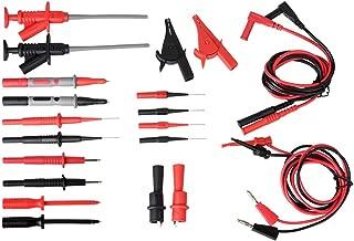 Cable de prueba de sonda de multimetro, moonlux Profesional Multímetro Cable de Prueba Kit de Accesorios Incluye Extensiones de Plomo Prueba Sondas Pinzas cocodrilo