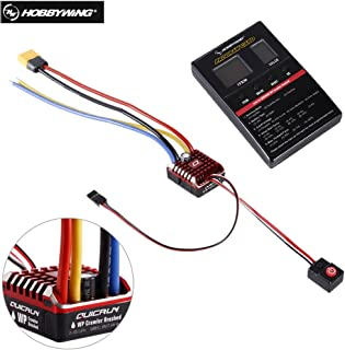 Hobbywing QuicRun 1:10 1/8 WP Crawler Brush Brushed 80A Electronic Speed Controller Waterproof ESC Electronic Speed Controller With LED Program Card 30112750