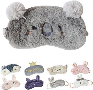 Cute Sleeping Eye Mask Plush Blindfold Travel Sleep Masks Super Soft Eye Cover for Kids Girls and Adult (E-Koala)