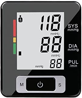 Fam-health Portable Wrist Blood Pressure Monitor FDA Approved with Large Display, Two User