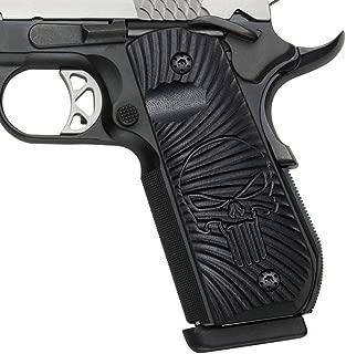 Cool Hand 1911 Full Size G10 Grips, Bobtail Round Butt Cut, Mag Release, Ambi Safety Cut, Sunburst Texture