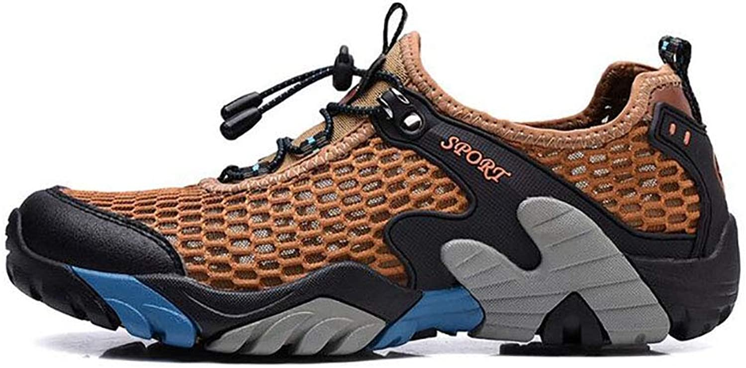 Y-H Men's Sneakers Spring Fall Mesh Hiking shoes Beach Outdoor shoes Camping Hiking   Hunting Fishing Anti-Slip, Quick Dry, Wearable Breathable Mesh Quick Dry shoes (color   D, Size   40)