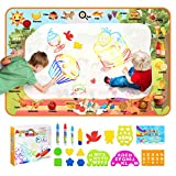 Aqua Magic Doodle Mat for Kids, 47'x30' Water Drawing Mat Educational Toys, Water Painting Scribbler Boards Travel Toys, Cognitive Letters Aqua Mat Xmas Gift for Boys Girls Toddles Age 3 4 5 6 7 8 9