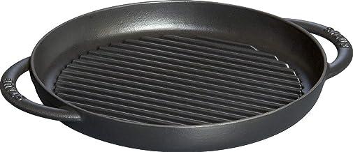 osoltus Po/êle grill /à steak Po/êle Ronde Po/êle en fonte 27/cm