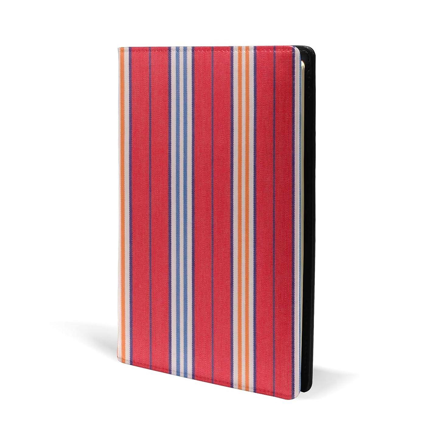 助手原因ヘルメットブックカバー a5 ストライプ きれい 赤い 文庫 PUレザー ファイル オフィス用品 読書 文庫判 資料 日記 収納入れ 高級感 耐久性 雑貨 プレゼント 機能性 耐久性 軽量