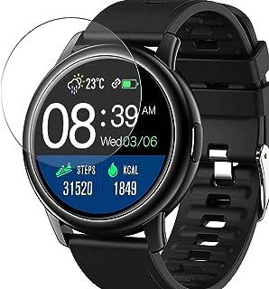 Vaxson 3-pack skärmskydd, kompatibel med Donerton BOZLUN S27 1,3 tum smartklocka smartwatch, TPU Guard filmskydd klistermä...