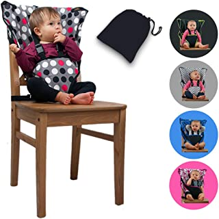 Cozy Cover Easy Seat Portable High Chair (Polka Dot) - Quick, Easy, Convenient Cloth Travel High Chair Fits in Your Hand Bag for a Happier, Safer Infant/Toddler
