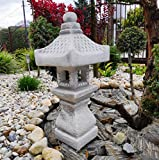Decoración de Adornos de jardín - Pagoda/Linterna de Estilo japonés de Piedra TACHI-Gata-Oki