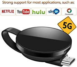 LONOSUN Wireless Display Adapter 5G/2.4G WiFi Dongle HDMI Display Adapter 1080P HD Support Chromecast/Chromecast Tv/DLNA/Airplay/Miracast for MacBook/Android / / iPhone X S MAX/8/7/SE