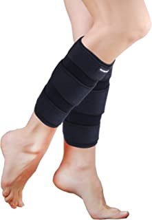 YOWBAND Adjustable Calf Compression Brace(2 PCS) - Shin Splint Support - Lower Leg Wrap Reduces Muscle Swelling, Pain Relief Strain Sprain - Calf Sleeve for Men and Women