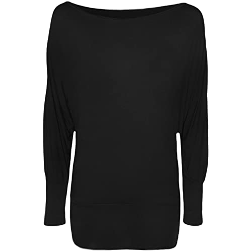 2a4877d77f4a9c Ladies Batwing Long Sleeved Womens Top