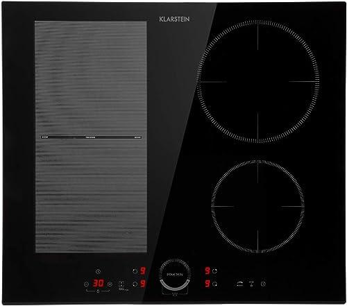 Klarstein Delicatessa 60 Hybrid - Table de cuisson à induction, Encastrable, 4 zones, 7000W