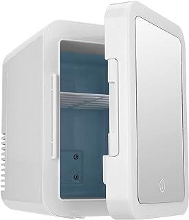 FILFEEL Mini réfrigérateur de beauté Portable 4L avec Miroir de Maquillage éclairage LED pour Le Stockage de Maquillage, L...