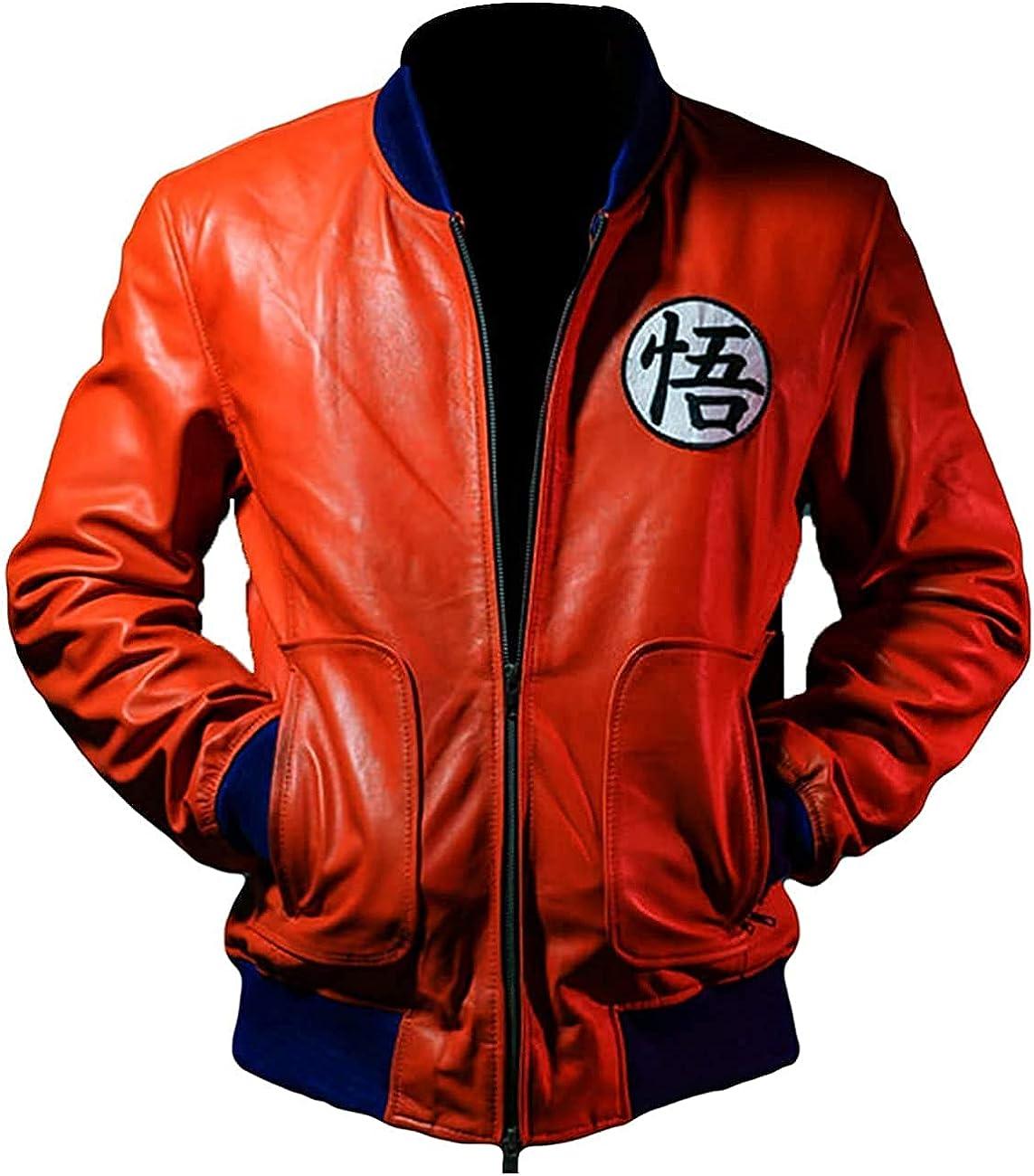 Dragon Ball Z Super Guko Kakroat Black Lambskin Leather Jacket