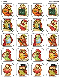 Owl Stickers, Multi Color