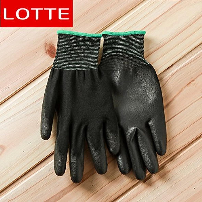 雇った手紙を書く何かVBMDoM ロッテのPUパームコーティング作業手袋(黒/中型) x 5個 [並行輸入品]