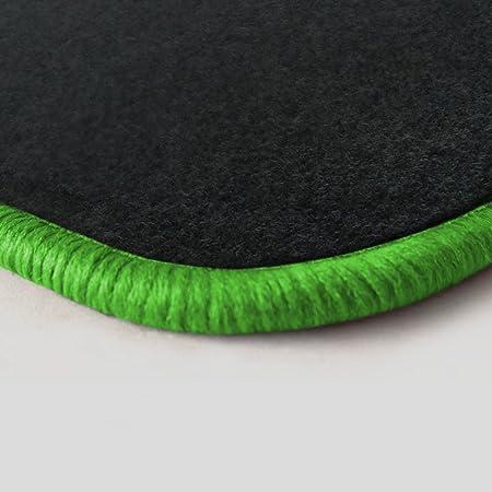 Autoteppich Stylers Randfarbe Nach Wahl Passgenaue Fußmatten Aus Nadelfilz Graphit Mit Kawagrünem Rand 507 Auto