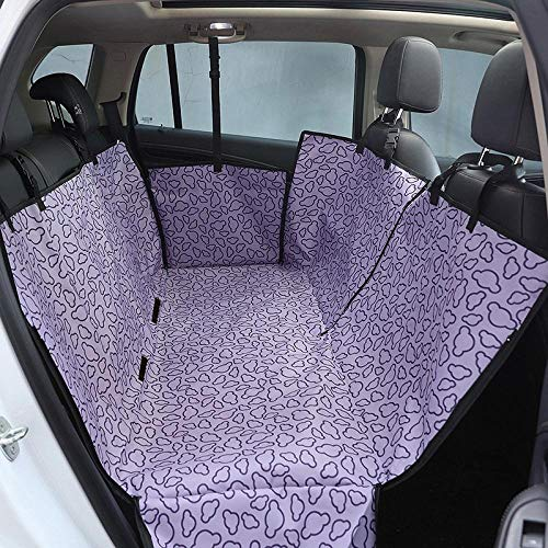 Back Seat Car Covers Purple Cloud Pattern Dog Car Boot Guard for Back Seat Waterproof Durable Anti-Scratch Nonslip Pet Protection Dog Travel Hammock with Mesh Window and Side Flaps