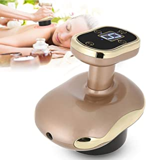 Vacuum Negative Pressure Massager, 3 in 1 Hot Compress Scraping Cupping Therapy Electric Massager for Body Detoxification Dredging Ache Slimming Fat Burner (Gold)
