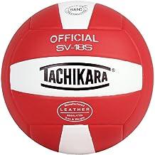 Tachikara Institutionele kwaliteit composiet lederen volleybal, konings-wit