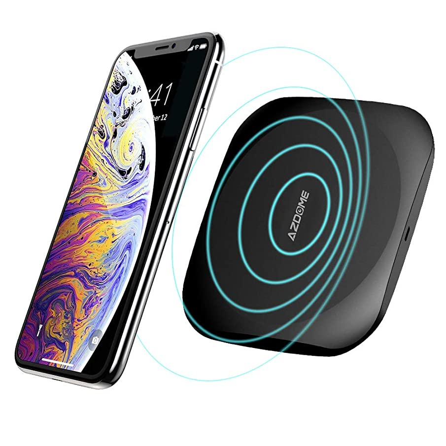 Fast Wireless Charger,AZDOME Wireless Charging Pad 10W Compatible with Galaxy S9/S9+/S8/S8+/Note 8,7.5W iPhone XR/XS Max/XS/X/8/8 Plus,and Other Qi-Enabled Devices