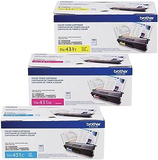 Brother TN-431C TN-431M TN-431Y DCP-L8410 HL-L8260 L8360 MFC-L8610 L8690 L8900 Toner Cartridge Set (Cyan Magenta Yellow, ...