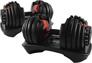 Verpeak Adjustable Dumbbell Set Weight Plates for Gym or Home Exercise, Available in 24kg or 40kg