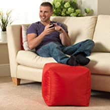 Comfy Ottomon Cube Footrest Stool (Red)