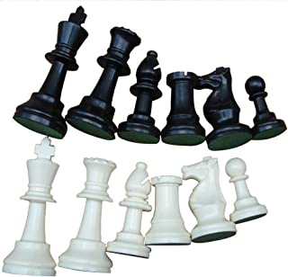 Weight Tournament Chess Game Set - Chess Board Game International Chess Pieces Complete Chessmen Set Black & White Large-77mm